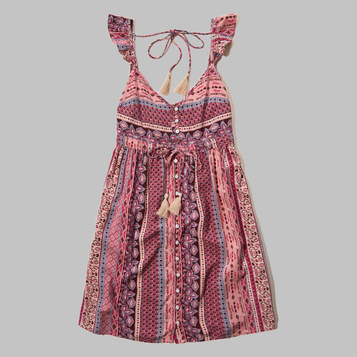 Flutter-Sleeve Rayon Dress