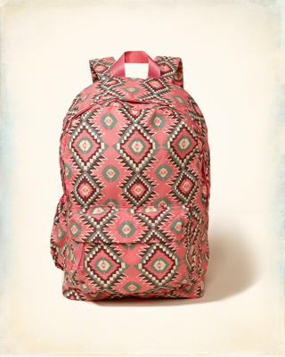 Printed Nylon Backpack