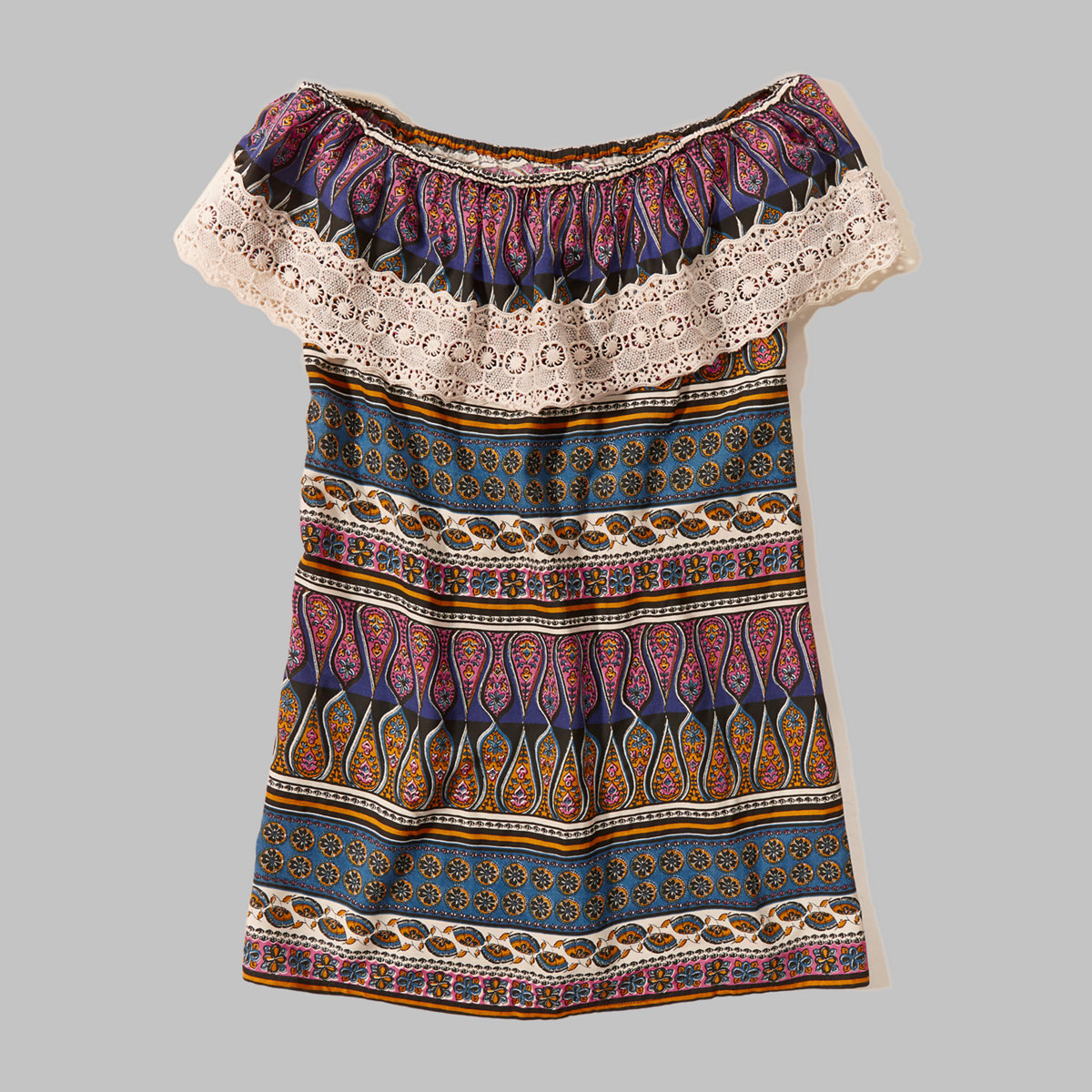 Off-The-Shoulder Rayon Dress