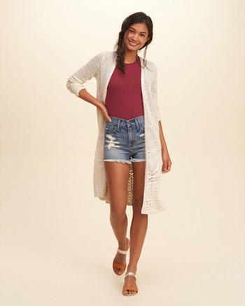 Non-Closure Duster Cardigan