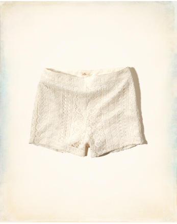 hol Lace High Waist Shorts