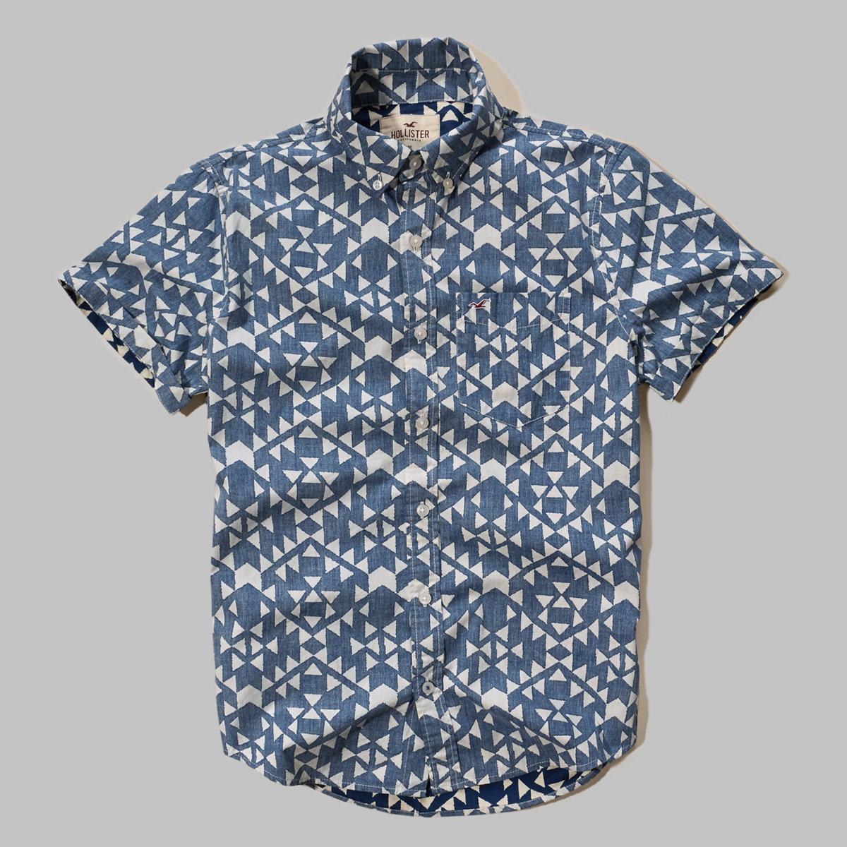 Reverse Print Poplin Shirt