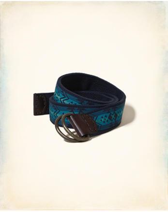 hol Patterned Fabric Belt