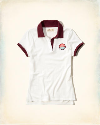 Logo Patch Slim Polo