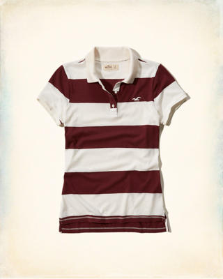Rugby Stripe Slim Polo