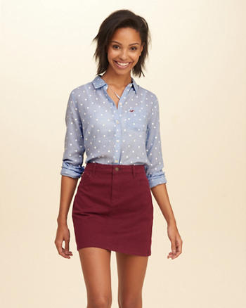 Polka-Dot Oxford Pocket Shirt