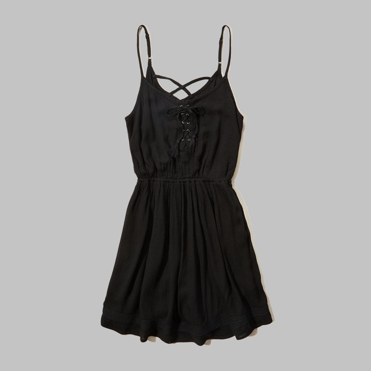 Printed Lace-Trim Skater Dress