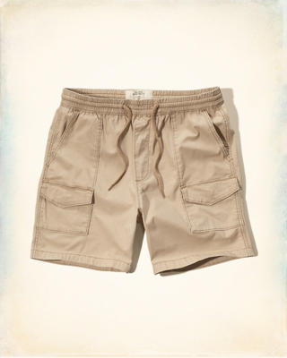 Hollister Beach Prep Fit Pull-On Cargo Shorts