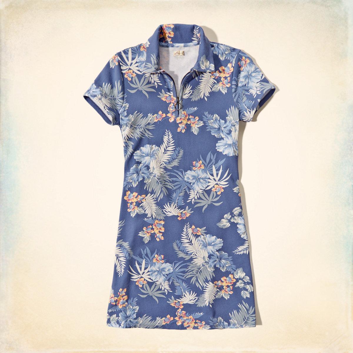 Knit Zip Polo Dress