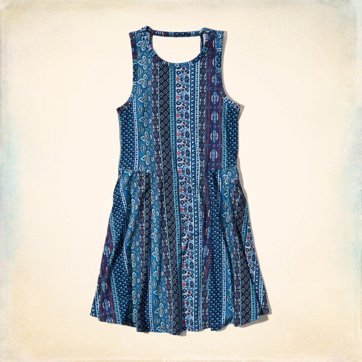 Open-Back Knit Swing Dress