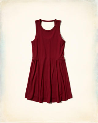 Open-Back Knit Swing Dress