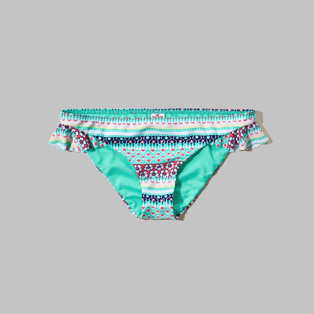 Side-Ruffle Bikini Bottom