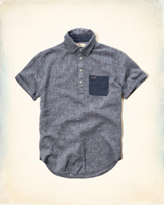 Contrast Cotton-Linen Shirt
