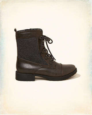 Vegan Leather Combat Boot