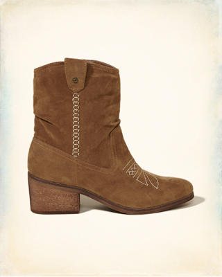 Embroidered Slouchy Western Boot