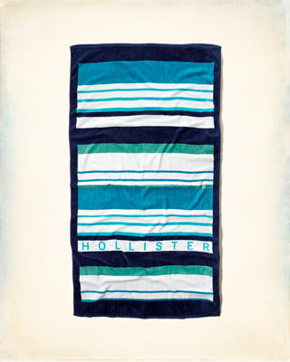 Stripe Logo Beach Towel