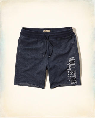 Textured Logo Jogger Shorts