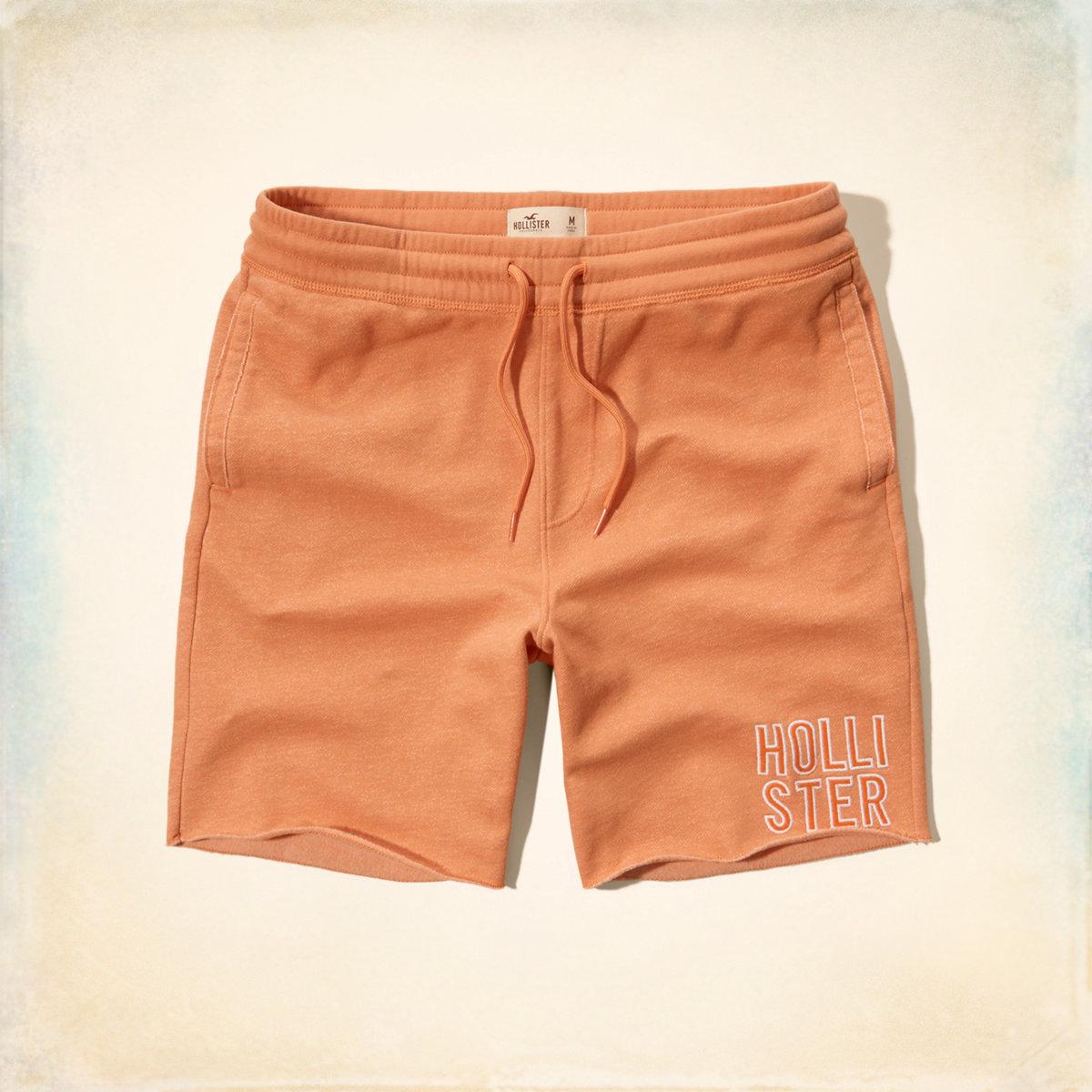 Textured Logo Jogger Shorts