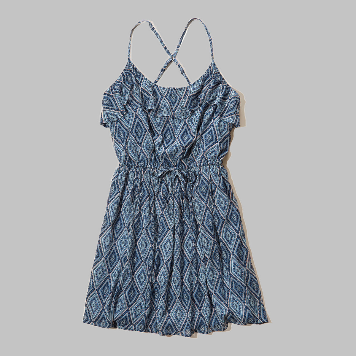 Ruffle Chiffon Easy Waist Dress