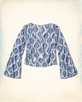 Pattern Peasant Top