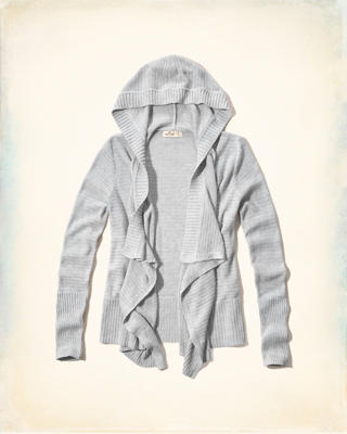 Hooded Non-Closure Blanket Cardigan