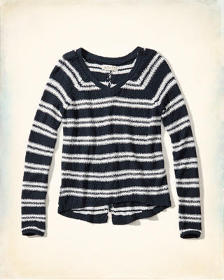 Lace-Up Back Pullover Sweater