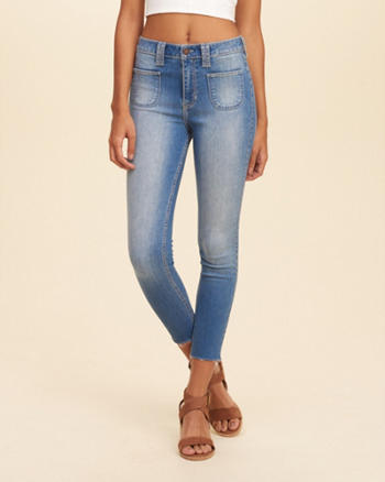 Hollister High Rise Crop Jeans