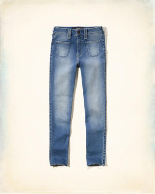 Hollister High-Rise Crop Jeans