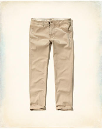 hol Hollister Slim Straight Zipper Fly Chinos