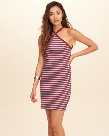 Cross-Back Ribbed Dress