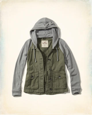 Twill Twofer Shirt Jacket