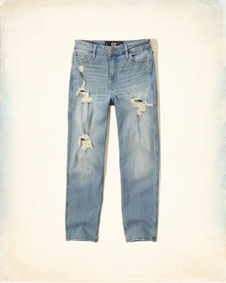 Hollister High Rise Girlfriend Jeans