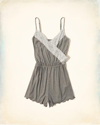 Gilly Hicks Wrap Front Sleep Romper