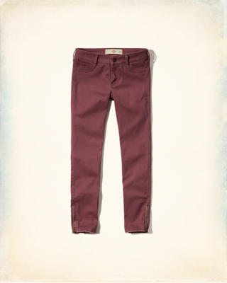 Hollister Low Rise Crop Pants