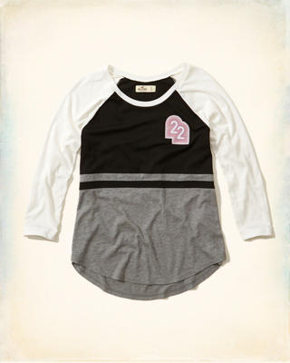 Notch Front Raglan Graphic Tee