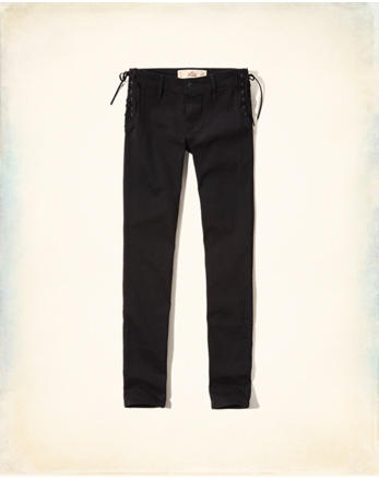 hol Hollister Low-Rise Super Skinny Twill Pants