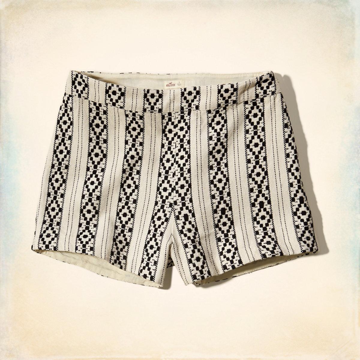 Printed Jacquard Tap Shorts