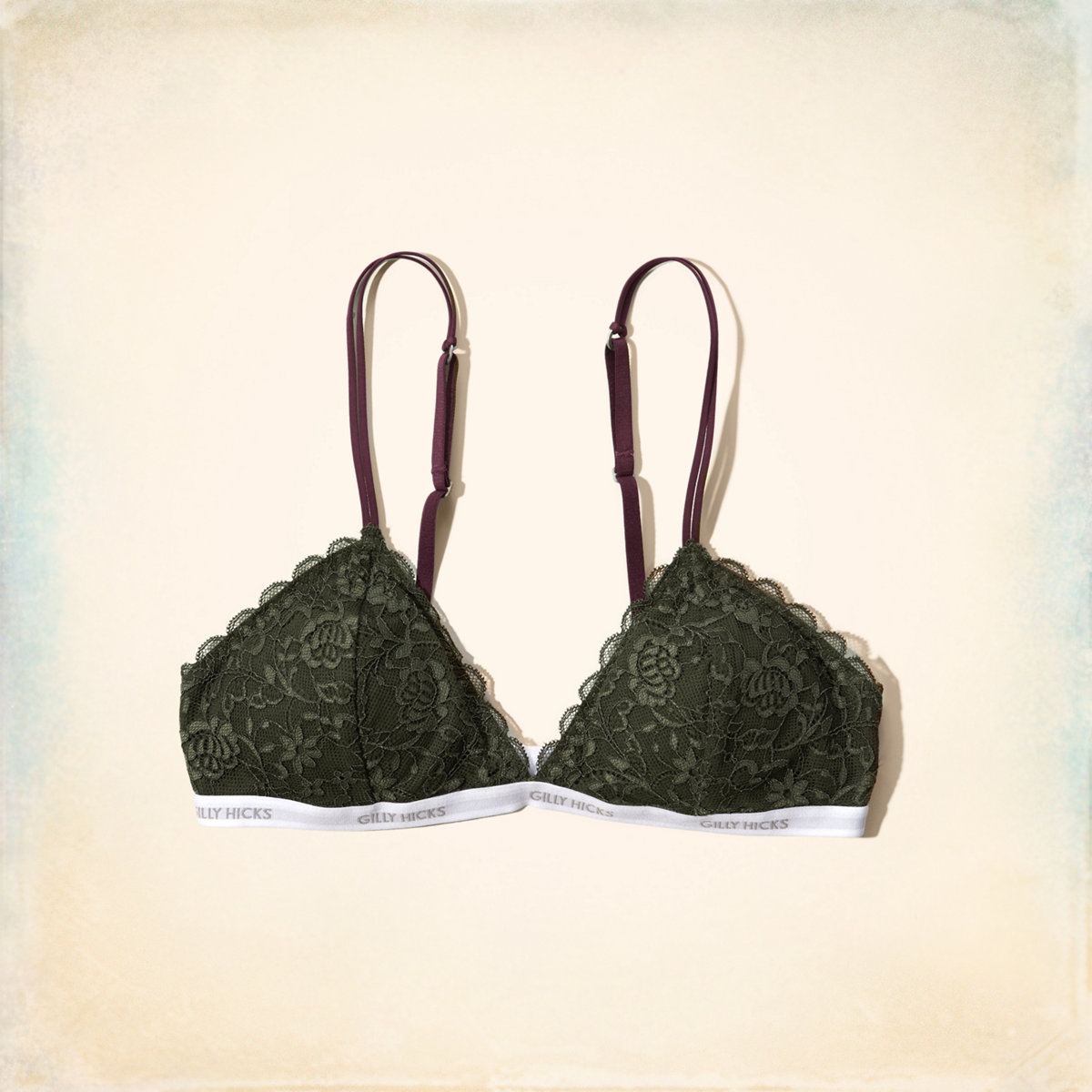 7fbef11295c18 Lace Triangle Bralette With Removable Pads