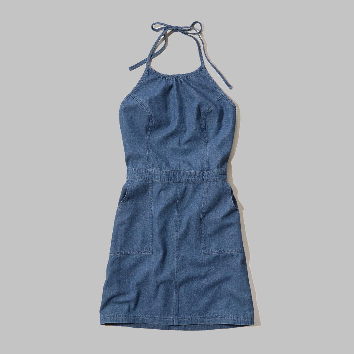 Denim Halter Dress