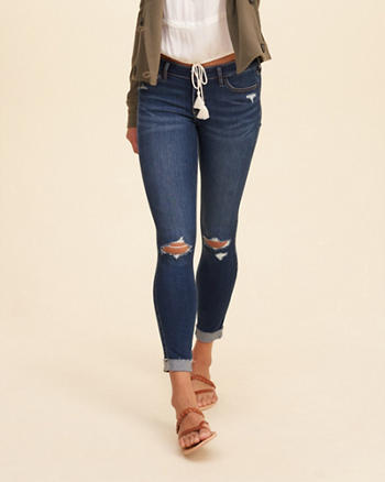Hollister Low Rise Crop Jeans