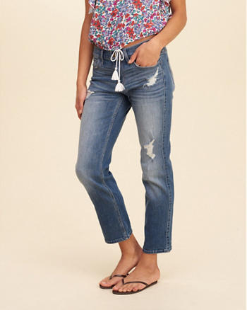 Hollister Low-Rise Boyfriend Straight Jeans