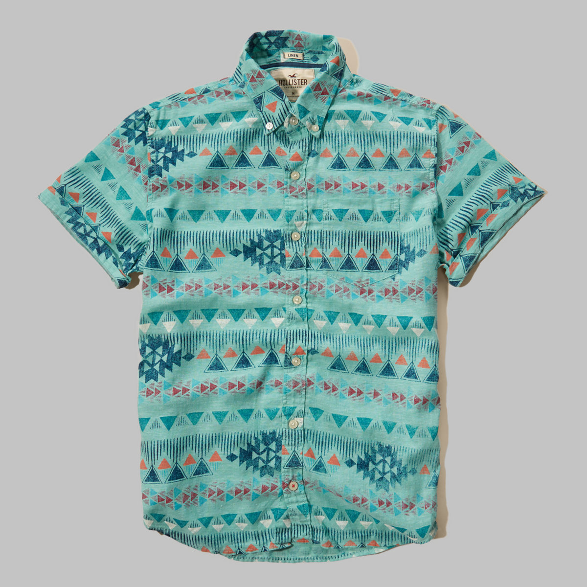Printed Cotton-Linen Shirt