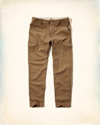 Slim Straight Cargo Pants
