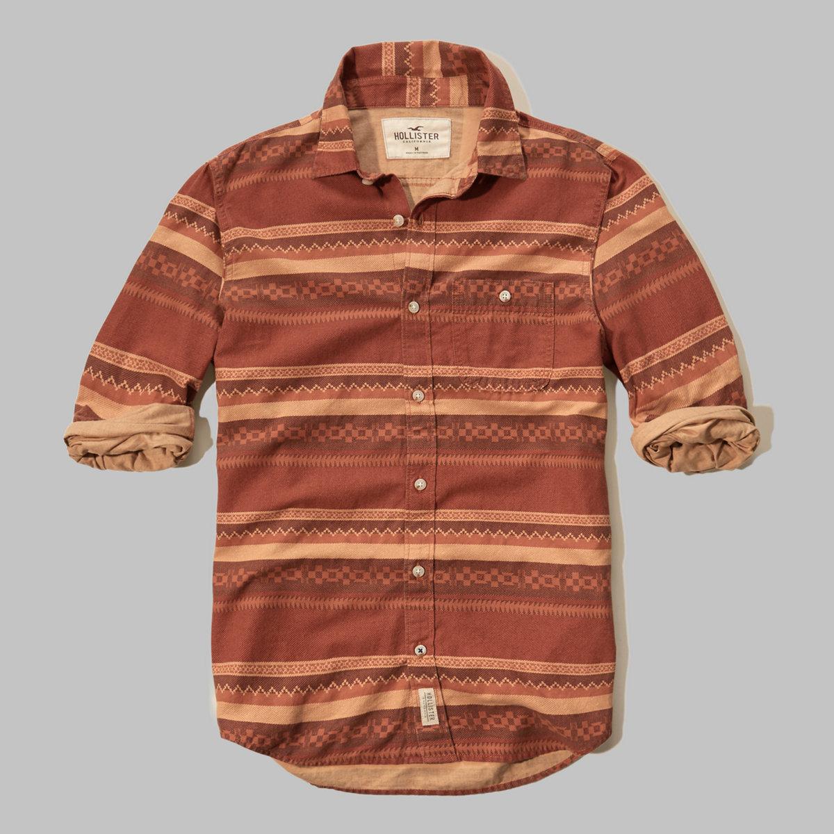 Brushed Cotton Pocket Shirt
