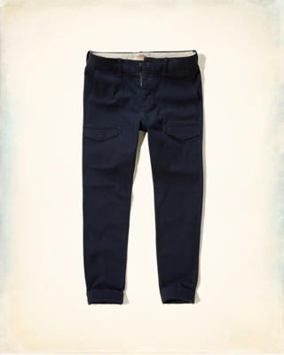 Hollister Skinny Cargo Zipper Fly Chinos