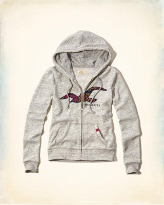 Floral Print Graphic Fleece Hoodie