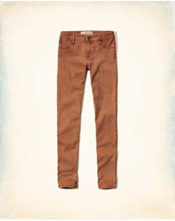 hol Hollister Low Rise Super Skinny Twill Pants