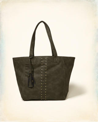Vegan Leather Tassel Tote Bag