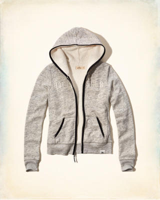 Sherpa Lined Logo Graphic Hoodie
