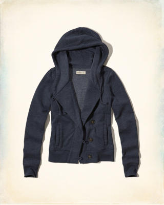 Button Front Fleece Hoodie